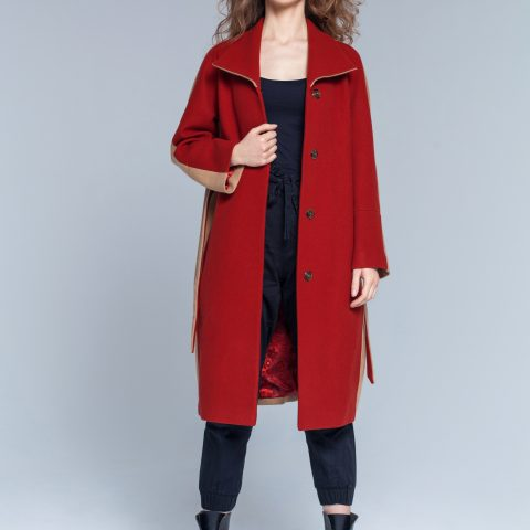 Osaka two- colored coat