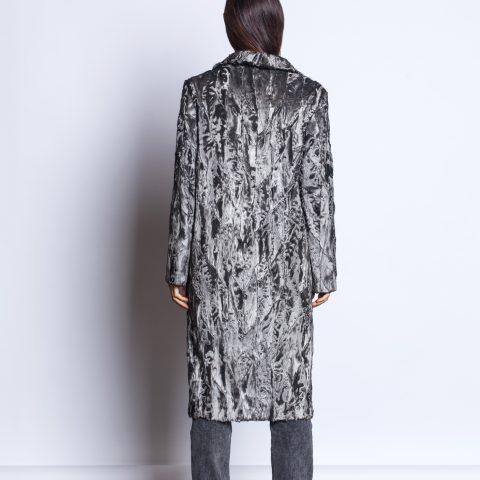 Silver fur coat